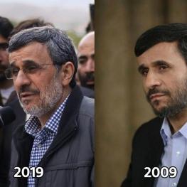 احمدی نژاد هم با انتشار این تصویر به چالش ده ساله پیوست
