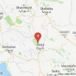 زمینلرزهدر حوالی سیسخت، در كهگيلويه وبوير احمد