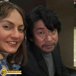 اینستاگرام گردی: مهناز افشار در کنار ( بازیگر ژاپنی )آقای ماساتوشی ناگاسه، در ایران