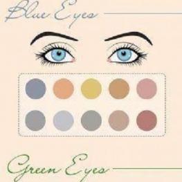 پالت های رنگی مناسب برای رنگ های مختلف چشم