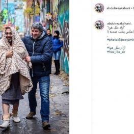 رضا عطاران پشت صحنه فیلم جدیدش در کانادا