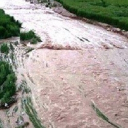 یک روستا در دشت آزادگان زیر آب رفت