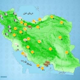 در اغلب مناطق کشور جوی آرام پیشبینی میشود.