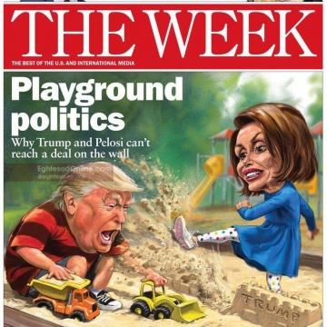 جلد نشریه ویک/ تشبیه اختلافهای ترامپ و دموکراتها