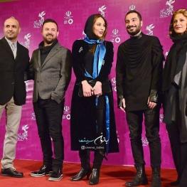 اینستاگرام گردی: تیم فیلم خشم و هیاهو در فرش قرمز جشنواره فجر ۳۴