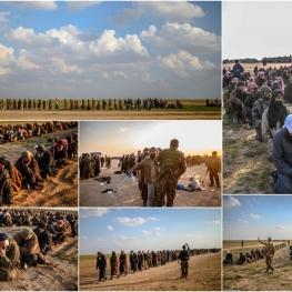 خروج عناصر تسلیمشده داعش از شهرک «باغوز» واقع در شرق دیرالزور سوریه