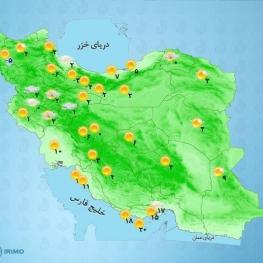 شدت بارشها در استان گیلان و غرب مازندران است