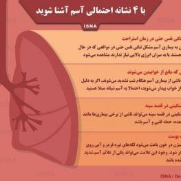 اینفوگرافی / با چهار نشانه احتمالی آسم آشنا شوید