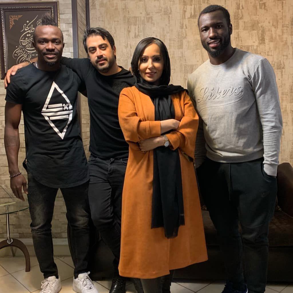 اینستاگرام گردی : پرستو صالحی در کنار بازیکنان خارجی استقلال