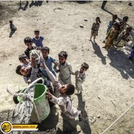 تصویر: بازی بسکتبال کودکان در سيستان و بلوچستان