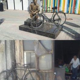 نصب تندیس پیرمرد امانت دار زنجانی