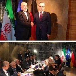 ديدار محمد جواد ظريف و هايكو ماس وزيران خارجه ايران و آلمان در حاشيه كنفرانس مونيخ