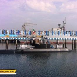 پیشرقته ترین زیردریایی ایران به نیروی دریایی ارتش پیوست