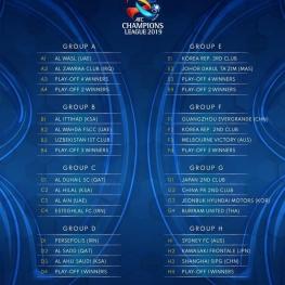 گروه بندی لیگ قهرمانان آسیا ۲۰۱۹ و حضور ۳ نماینده از کشورمان