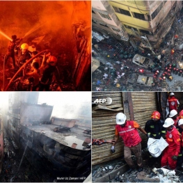 شمار تلفات آتشسوزی در داکا بنگلادش به ۷۰ کشته و ۵۰ مجروح رسیده است
