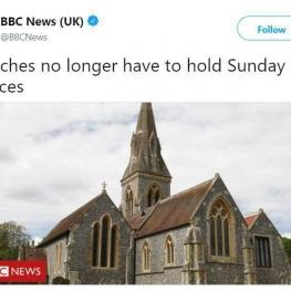 تغییر قانون کلیساها در بریتانیا بعد از چهارصدسال