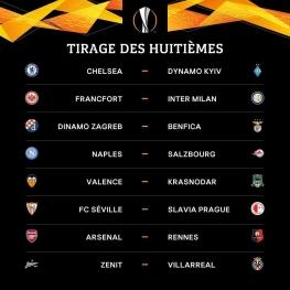 قرعهکشی مرحله یکهشتمنهایی لیگ اروپا انجام شد و تیمها حریفان خود را شناختند