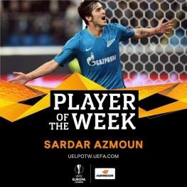 سردار بهترین بازیکن هفته