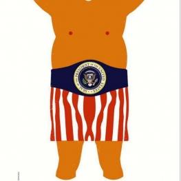 تصویر هفته نامه اشپیگل با موضوع تبرئه شدن ترامپ بر اساس گزارش بازرس مولر