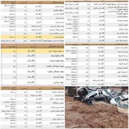 اعلام اسامی کشتهشدگان و مجروحان حادثه سیل امروز شیراز
