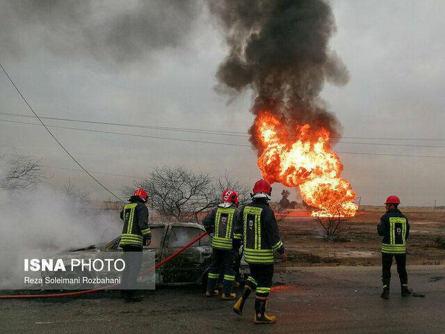 مسیر آزادراه اهواز – ماهشهر برای تردد خودروها بازگشایی شده