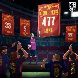 لیونل مسی با گذشتن از ژاوی، رکورددار بیشترین برد در تاریخ بارسلونا شد.