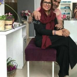 اینستاگرام گردی: احمدرضا عابدزاده و همسرش