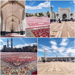 آمادهسازی صحنهای حرم حضرت امام رضا (ع) برای برگزاری مراسم ویژه تحویل سال جدید