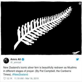 حفاظت از مسلمانان نمازگزار توسط نیوزلندیهای غیرمسلمان