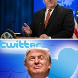 پامپئو: تا انتشار توئیت برکناریام توسط ترامپ، وزیرخارجه آمریکا هستم