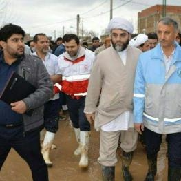 بازدید نماینده رهبری از مناطق سیلزده گلستان