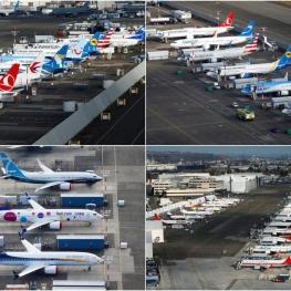 هواپیماهای زمینگیر شده بوئینگ ۷۳۷ مکس پس از حوادث مرگبار در اندونزی و اتیوپی