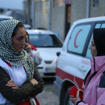 هدیه تهرانی با حضور در پایگاه امداد هوایی هلال احمر در استان گلستان
