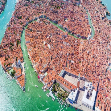 تصویر روز: نمای زیبایی از شهر ونیز (ایتالیا)