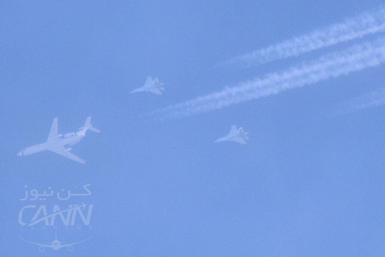 عبور هواپيما با اسكورت چهار جنگنده، ساعت ١٧:٥٥ جمعه از آسمان اطراف تبريز