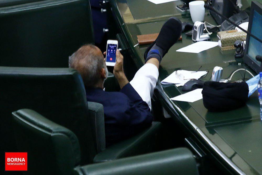 تصویر مربوط میشه به جلسه علنی امروز مجلس شورای اسلامی