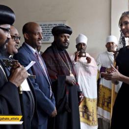 ایوانکا ترامپ دختر و مشاور پرزیدنت ترامپ در سفر به اتیوپی