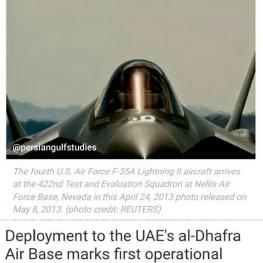 استقرار جنگندههای F-35 نیروی هوایی آمریکا در امارات