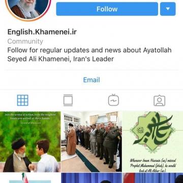 صفحه انگلیسی سایت رهبر انقلاب در اینستاگرام هم رفع مسدودیت شد