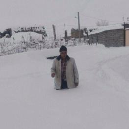 بارش نیم متری برف در روستاهای ورزقان استان آذربایجان شرقی