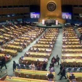 دیپلماتها هنگام سخنرانی وزیر خارجه ونزوئلا صحن مجمع عمومی را ترک کردند