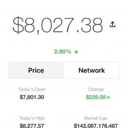 بیت کوین امروز ۸ هزار دلار را هم رد کرد