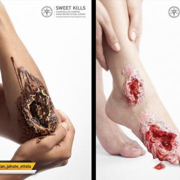کمپین خلاقانه در رابطه با بیماری دیابت