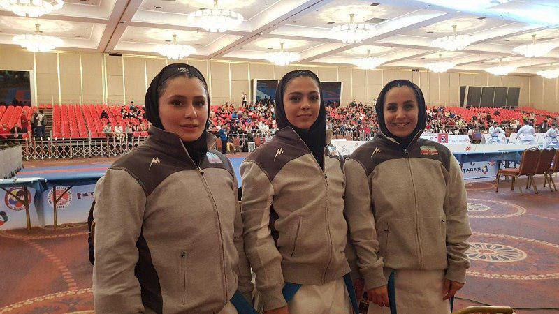 تیم کاتای بانوان ایران هم طلايي شد