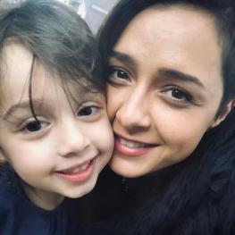 اینستاگرام گردی: ترانه علیدوستی و دخترش حنا