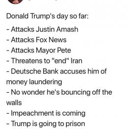 ترامپ  امروز روز خود را چگونه گذراند؟
