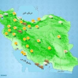 از روز جمعه تا اوایل هفته آینده در اغلب مناطق کشور افزایش محسوس دما بین ۴ تا ۷ درجه رخ خواهد داد.