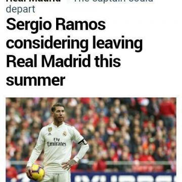 مارکا: سرخیو راموس قصد دارد در تابستان رئال مادرید را ترک کند