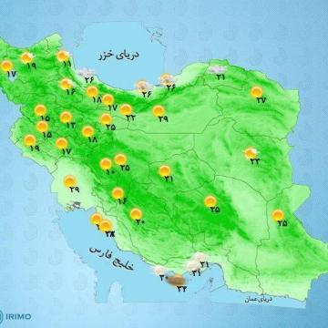 اغلب مناطق کشور جو آرام خواهد بود.