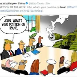 روحیه جنگ طلبی بولتون در قبال ایران سوژه کاریکاتوریست ها شد